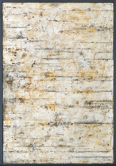 Tanya Bonello, Openbook no2 600x415mm, gypsum, silver leaf and oil on board, 2014