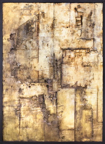 Tanya Bonello, Gold, 600x435mm, gypsum, gold leaf and oil on board, 2013
