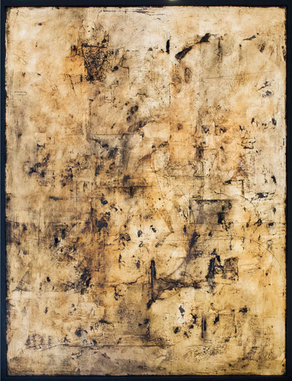 Tanya Bonello, Gold tabula, 600x450mm, gypsum, gold leaf and oil on board, 2012