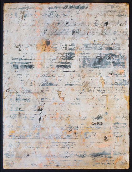 Tanya Bonello, Cipher, 600x450mm, gypsum, silver leaf and oil on board, 2012