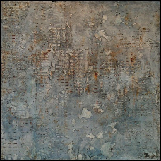 Tanya Bonello, Vestige series, No 36, Daylight, 1000x1000mm, gypsum and oil on board, 2003