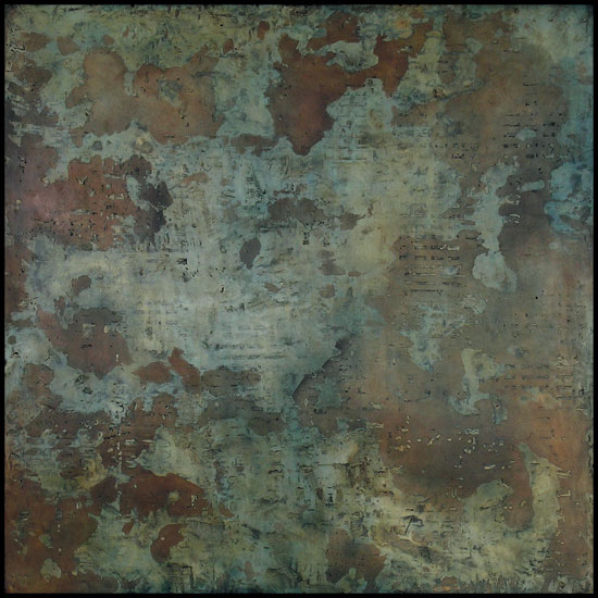 Tanya Bonello, Epyllion, 1000x1000mm, gypsum and oil on board, 2013