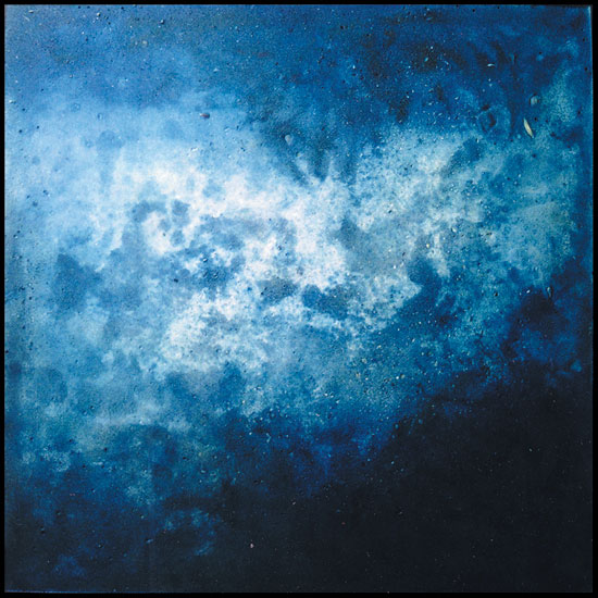 Tanya Bonello, Homage series, Once under the sea, 1000x1000mm, gypsum and oil on board, 2002